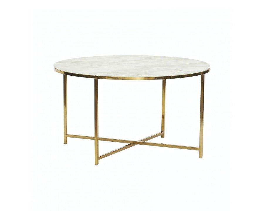 Table ronde métal et verre-XIBI