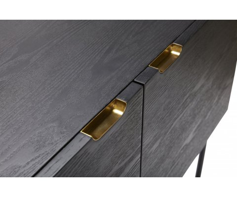 Commode haute en bois et laiton TOBA - Hubsch