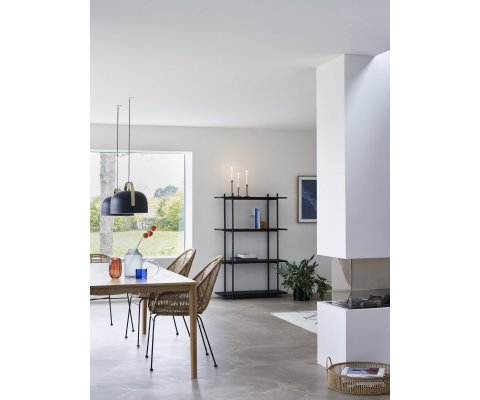 Étagère 4 étages métal et bois-SAPOILO