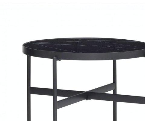 Table basse ronde en marbre SAZET - Hubsch