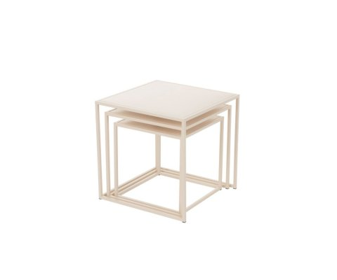 Lot de 3 tables gigognes carrées métal PLUMI
