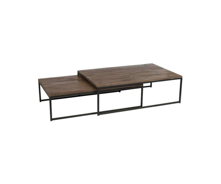 Lot de 2 grandes tables gigognes ROBERT - J-line