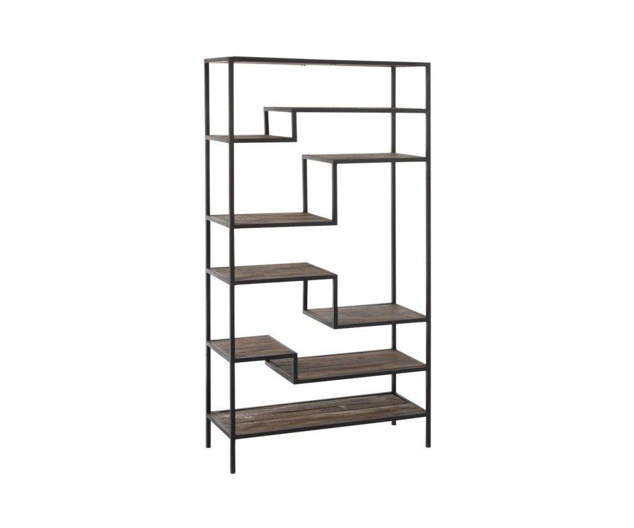 Etagère contemporaine métal et bois NICOLAS - J-line