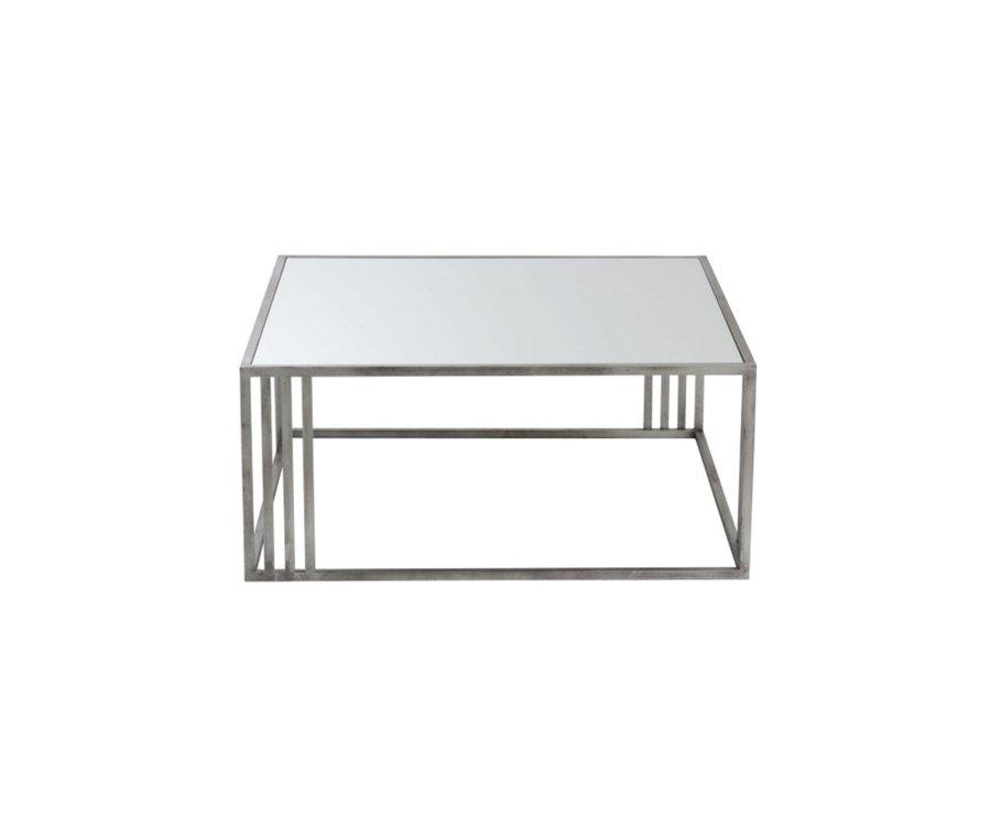 Table basse 100x100cm métal et verre VALI - J-line