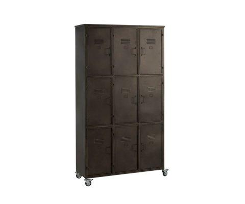 Armoire avec 9 casiers en métal DELICE