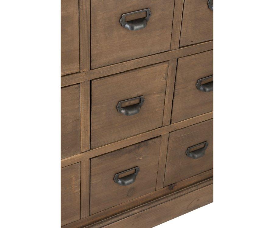 Commode vintage 18 tiroirs bois massif TALANE - J-line
