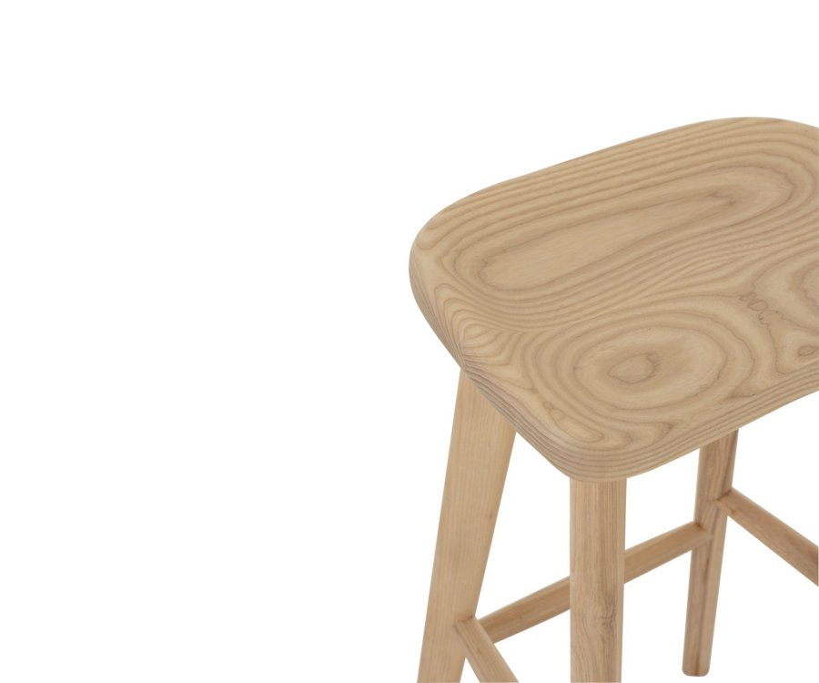Tabouret de bar en bois naturel GAUTHIER - J-line