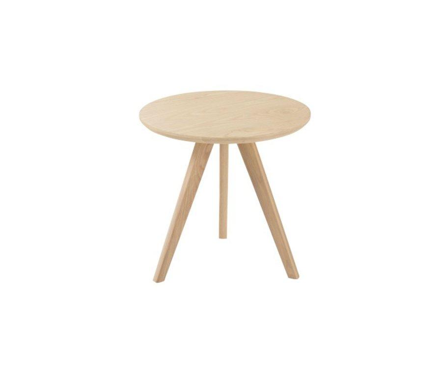Petite table d'appoint ronde en bois FARAH - J-line