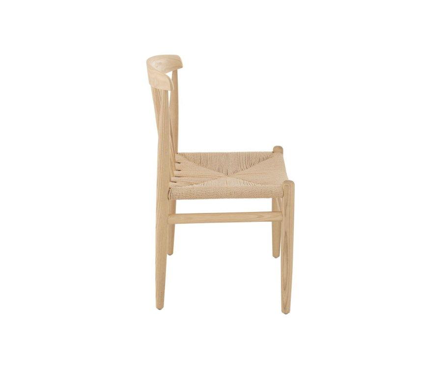 Chaise scandinave en bois naturel OLFA - J-line