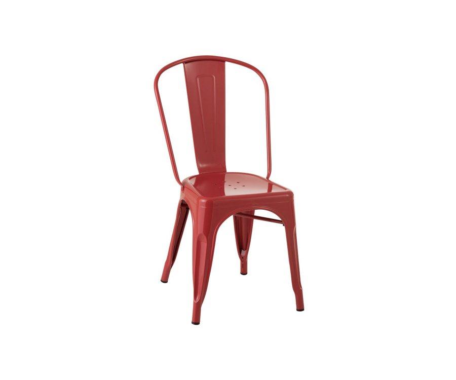 Lot de 2 chaises bistro métal DELICE - J-line