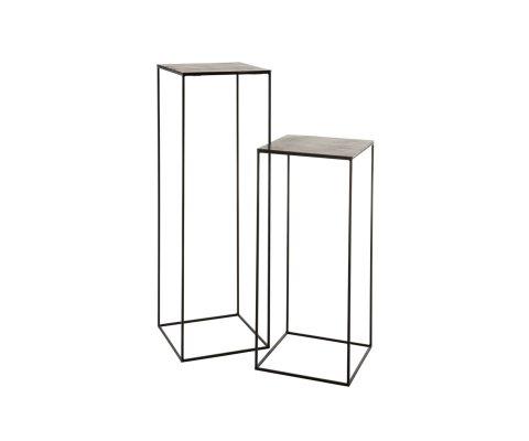 Lot de 2 sellettes design en métal OLIPA - J-line