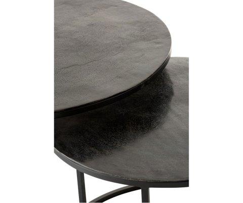 Lot de 3 tables gigognes rondes en métal MAT - J-line