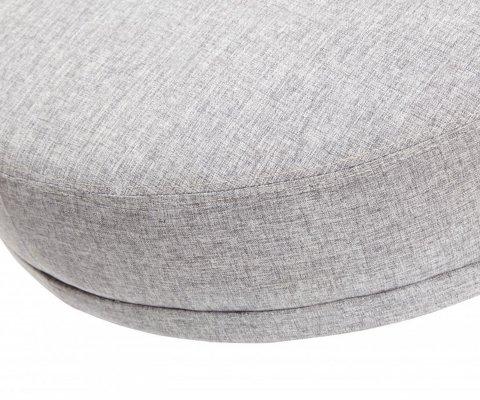 Pouf rond en tissu avec pieds métal ZARATE - Hubsch