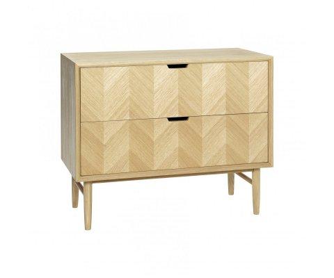 Console 2 tiroirs bois scandinave FALMIO - Hubsch