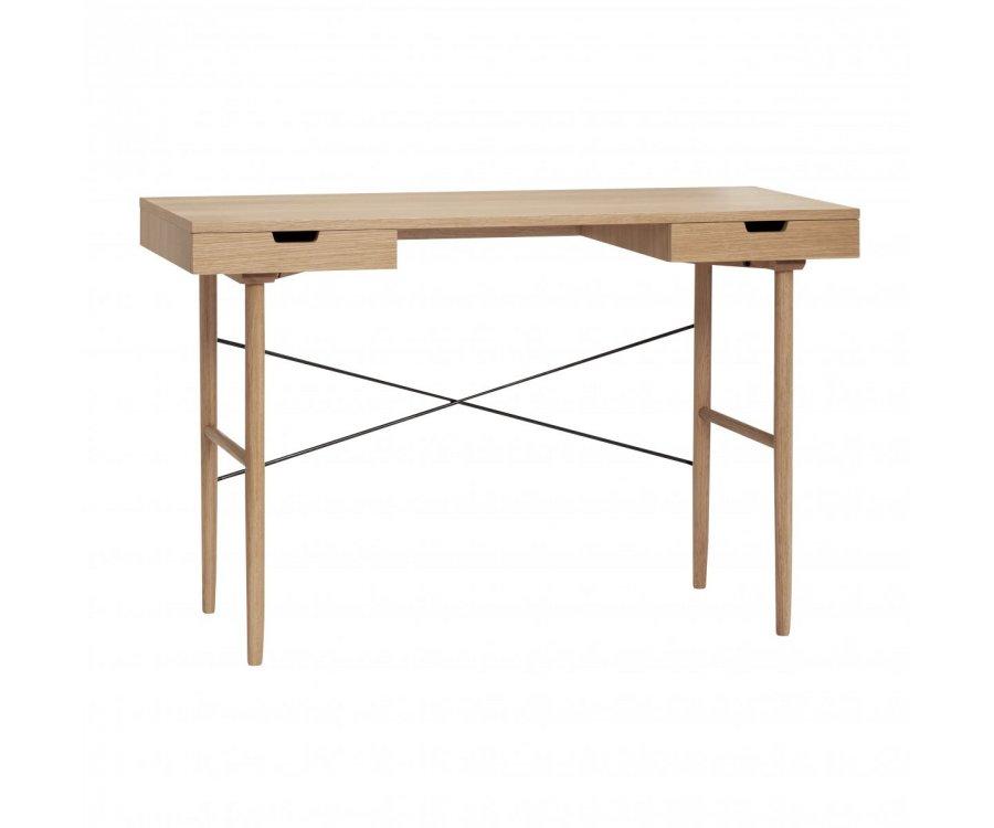 Bureau nordique avec tiroirs en bois AJOLI