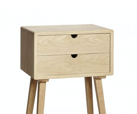 Petite console scandinave 2 tiroirs FELINE