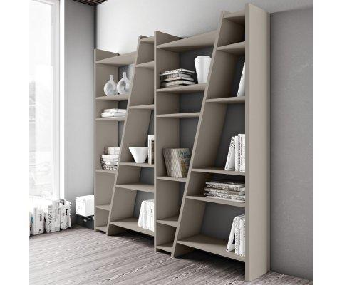 Grande bibliothèque design en bois DELITA