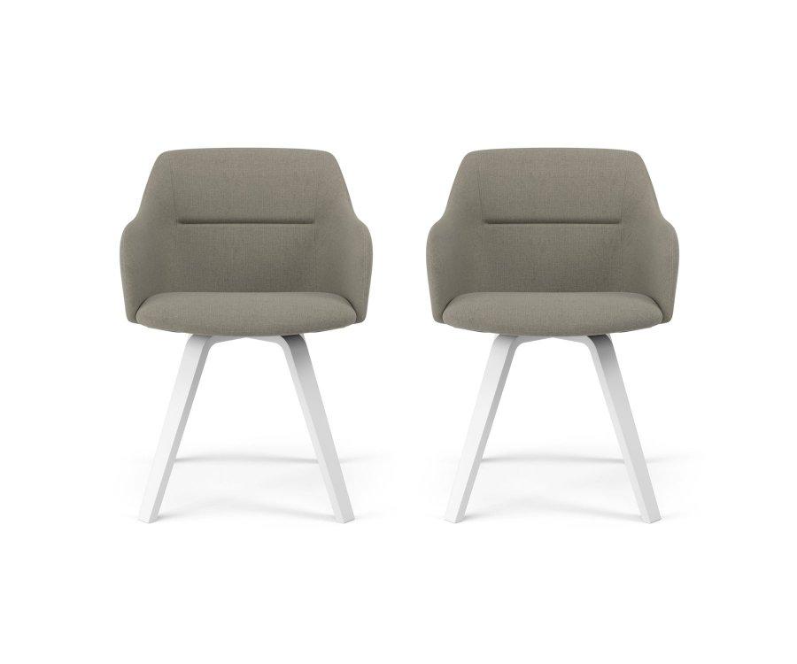 Lot de 2 chaises scandinave-QUIDONA