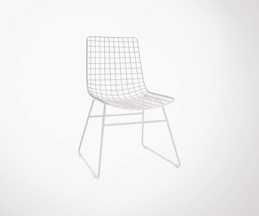 2 chaises métal style industriel HARRY - noir