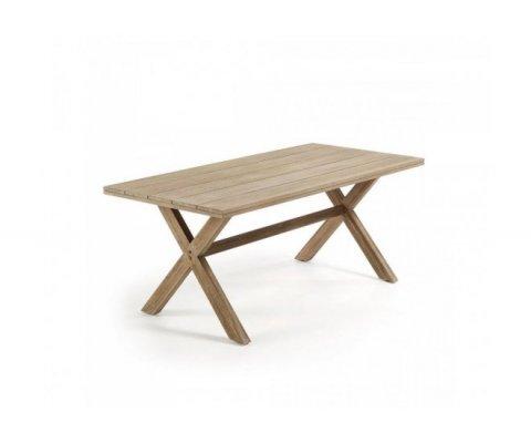 Table de jardin 190x90cm en bois POPI