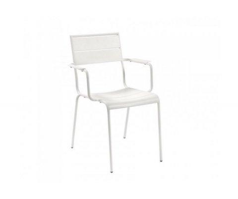 Chaise de jardin minimaliste en métal TIMAL