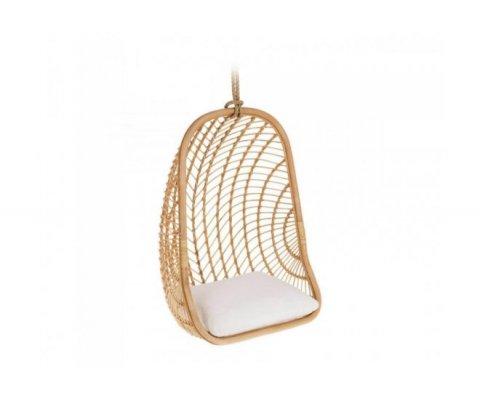 Fauteuil suspendu en bois avec coussin REPALI