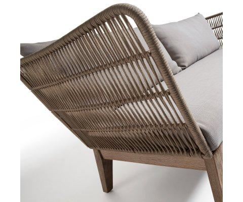Canapé d'extérieur bois et corde BENY