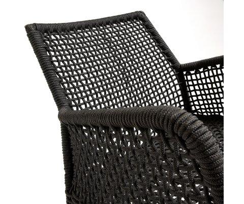 Chaise de jardin design en corde TOMILI