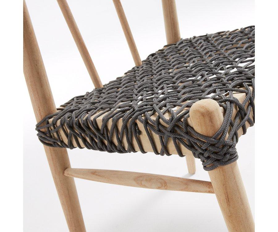 Chaise de jardin bohème bois et corde REZI
