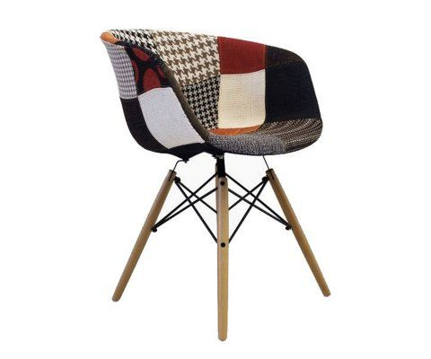 Chaise tissu patchwork scandinave RAY