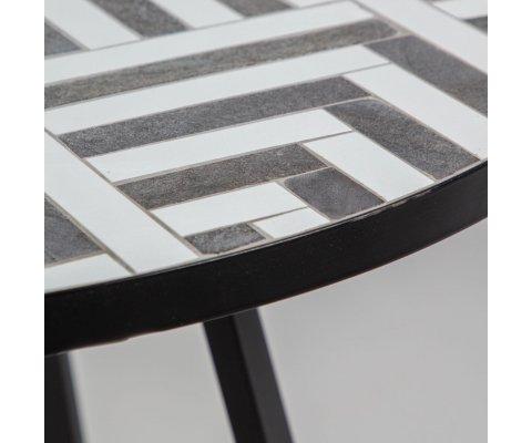 Petite table de jardin ronde en mosaïque SERENA