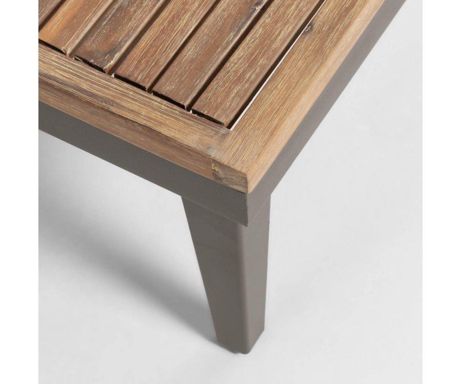 Table basse extérieur en bois 90x90cm TABLA