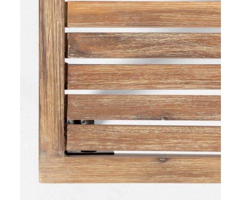Table basse extérieur en bois et métal TABLA