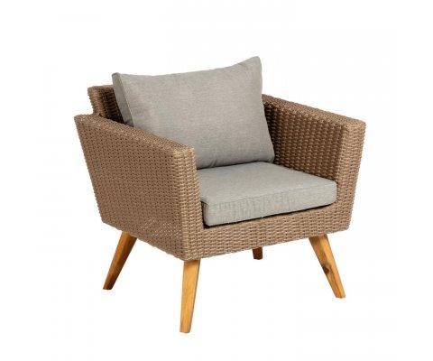 Lot de 2 fauteuils de jardin aspect rotin DOMA