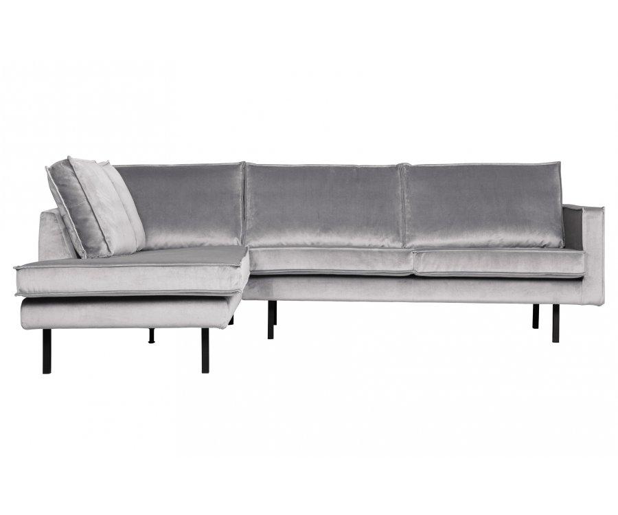Canapé en velours angle gauche COLORADO