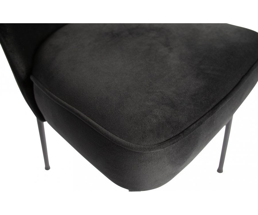 Chaise crapaud velours VOGUE