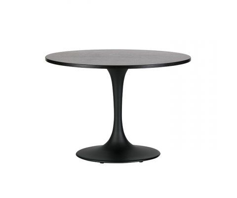 Table ronde à manger 110cm chêne noir JAZZ