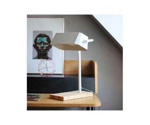 Lampe de table design bois métal JETSON - Red Cartel