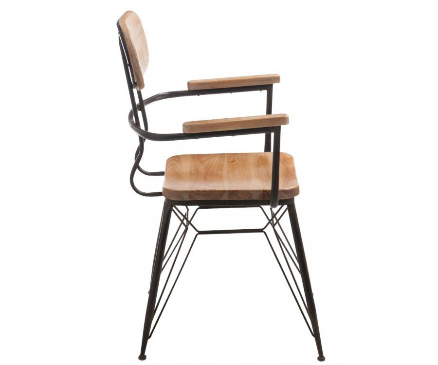 Chaise métal bistro avec accoudoir JAY