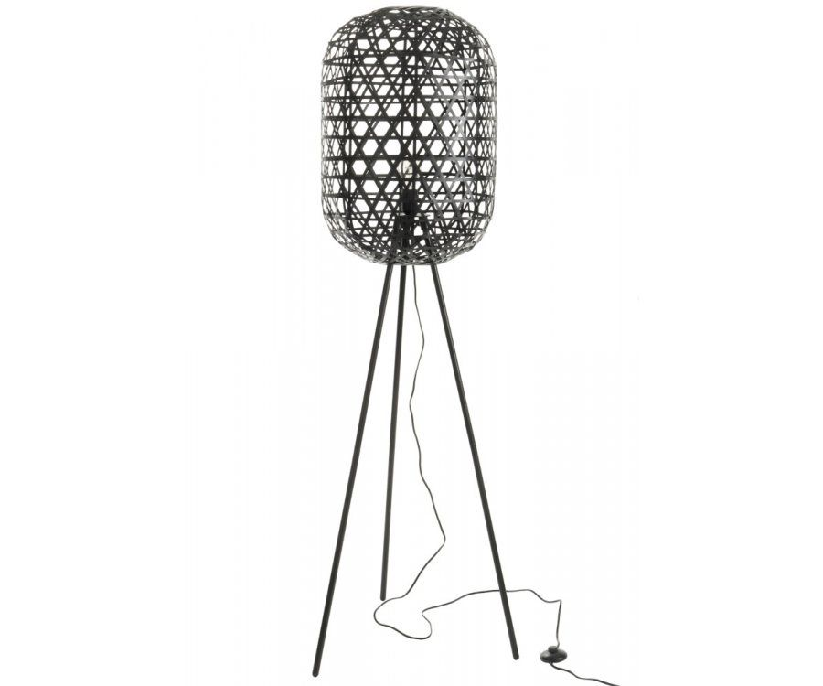 Lampe trepied style ethnique bambou MOIR