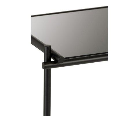 Console gigogne métal et verre noir GELZ - J-line