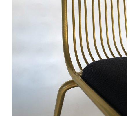 Lot de 2 chaises métal avec coussin MINA