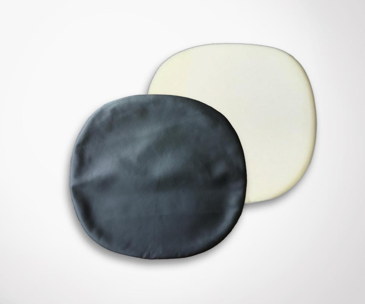 coussin de remplacement chaise tulip simili cuir noir. Black Bedroom Furniture Sets. Home Design Ideas