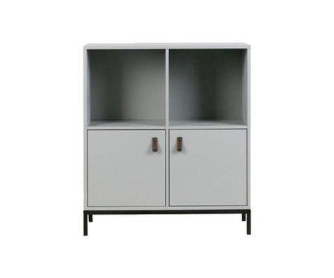 Petite bibliothèque 2 tiroirs 81cm LOWA