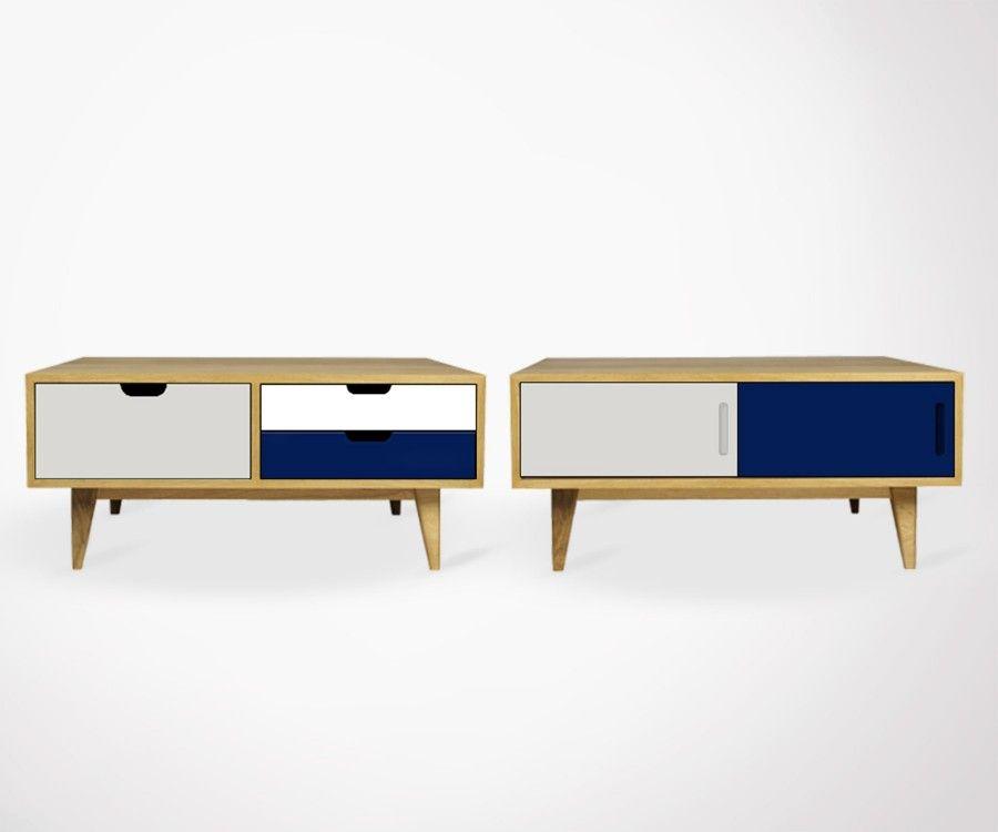 Table basse scandinave avec tiroirs OSCT