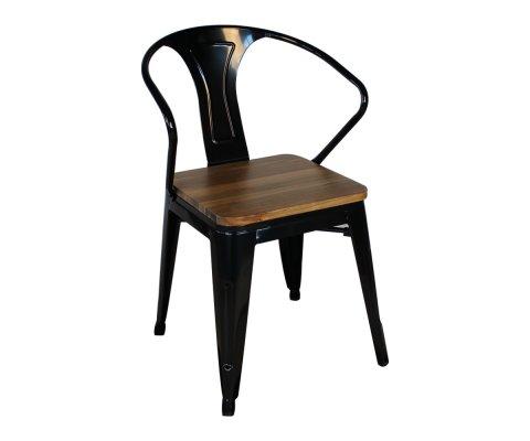 Chaise métal et bois industrielle- MIRANI