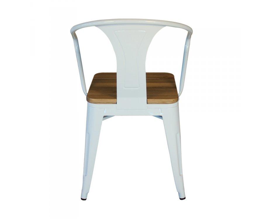 Lot de 2 chaises métal et bois style industriel MIRANI