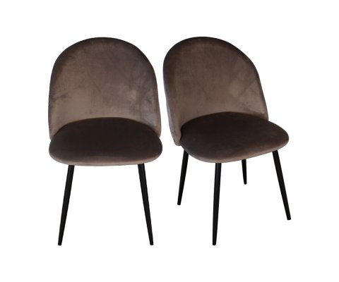 Lot de 2 Chaises velours- JUNIA