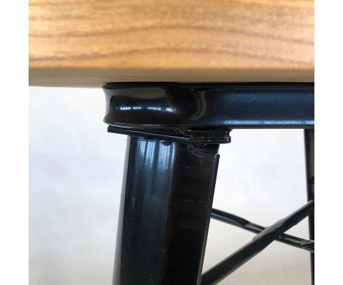 Petite table en métal et bois HILOPA