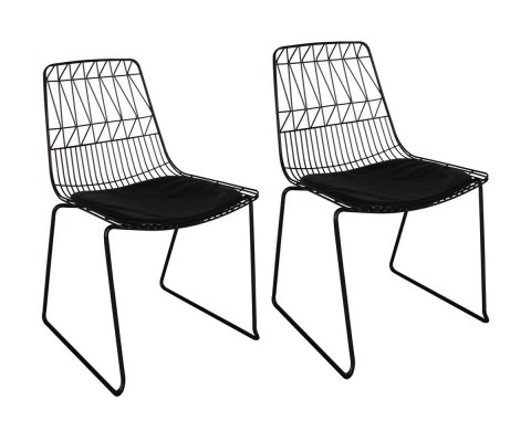Lot de 2 chaises design en métal MORELY